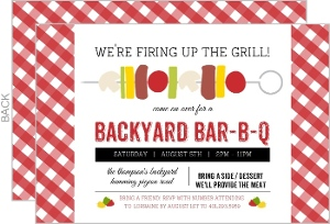 Colorful Shishkabob Bbq Party Invitation