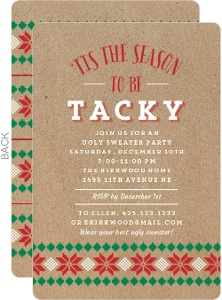 ugly christmas sweater party invitations, Party invitations