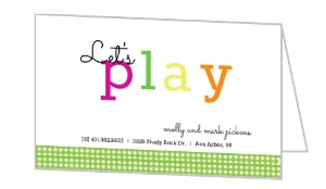 Lets Play Mommy Card - 7883