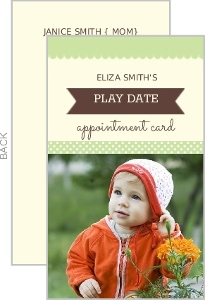 Green And Cream Photo Playdate Card