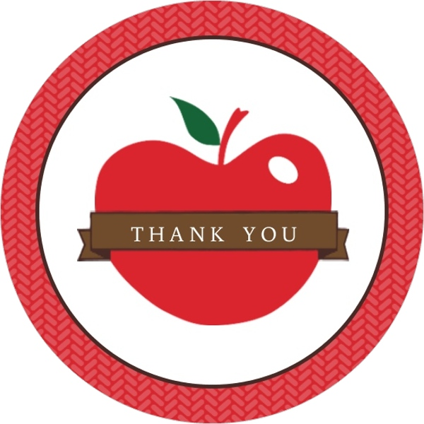 Red Apple Teacher Thank You Card | Back To School Party Invitations