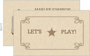 Brown Rope Western Play Date Card