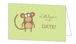 Green Monkey Mommy Playdate Card - 7881