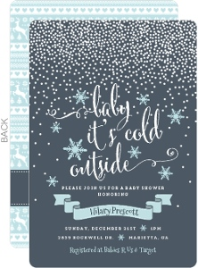 Baby Its Cold Outside Snowfall Baby Shower Invitation