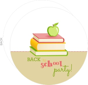 School Books Back To School Party Invitation