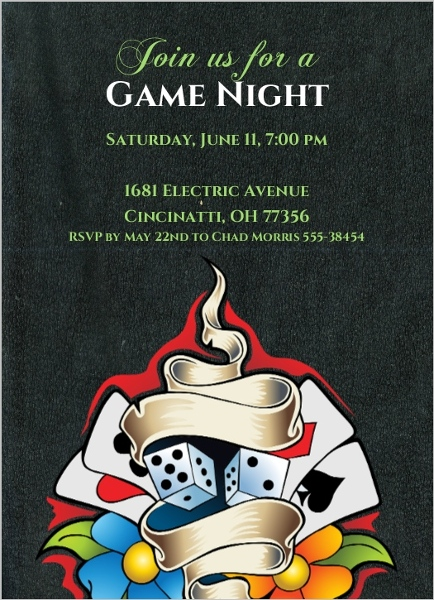 Casino Theme Party Invitations Template as perfect invitations example
