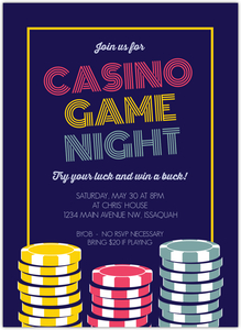 Poker Table Game Night Invitation