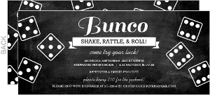 Chalkboard Bunco Game Night Invitation