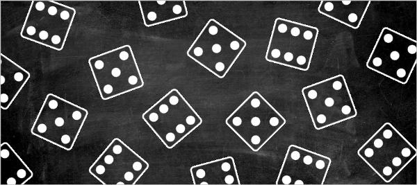 Chalkboard Bunco Game Night Invitation | Game Night Invitations