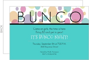Blue Bunco Night Invitation Game Night Invitations