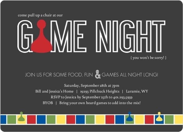 Gray Sorry Game Board Game Night Invitation