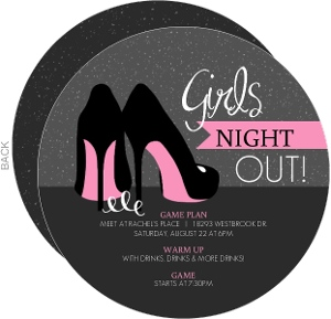 Pink High Heels Girls Night Out Invitation