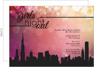 Girls In The City Girls Night Invitation - 7933