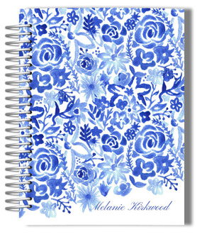 Cascading Handpainted Floral Monthly Planner