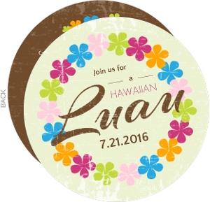 Flower Lei Luau Party Invite