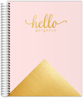 Faux Foil Gold Hello Gorgeous Monthly Planner