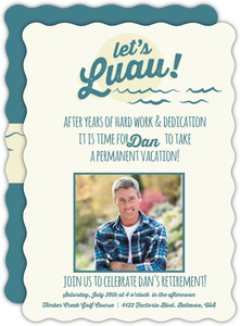 Tropical Retirement Luau Party Invitation