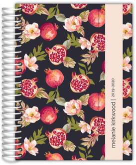 Pomegranate and Florals Monthly Planner