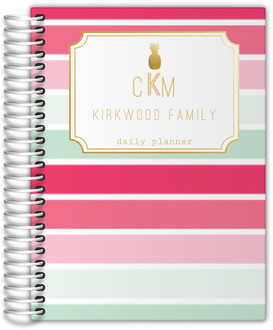 Tropical Sorbet Monogram Daily Planner
