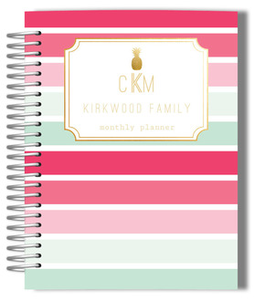 Tropical Sorbet Monogram Monthly Planner