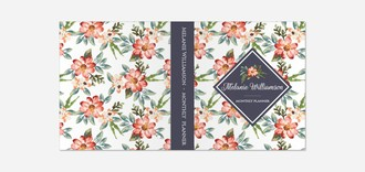 Delicate Watercolor Floral 3 Ring Binder Monthly Planner