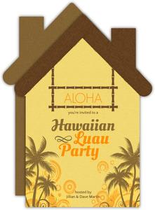 Hawaiian Luau Party House Card