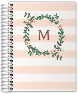 Floral Monogram Daily Planner