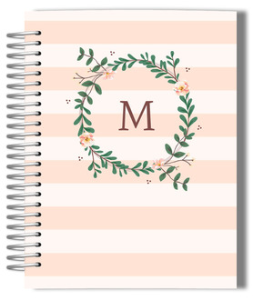 Floral Monogram Monthly Planner