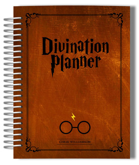 Vintage Rustic Brown Divination Monthly Planner
