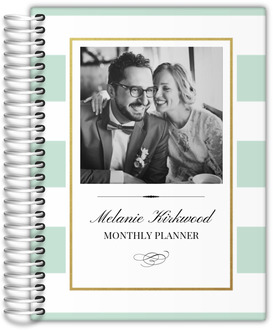 Classic Mint and Gold Frame Monthly Planner