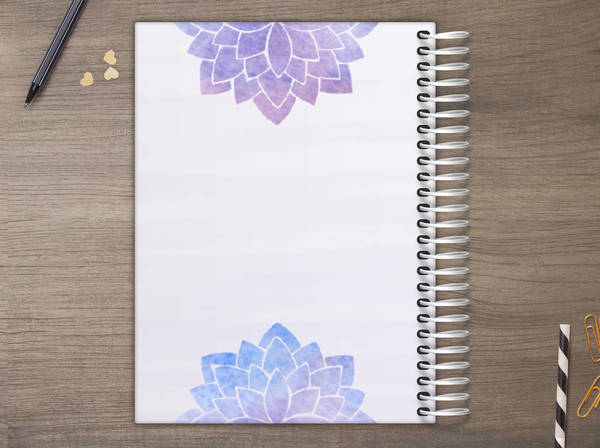 Lotus Flower Mindfulness Custom Daily Planner