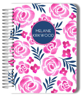 Pink Watercolor Floral Monthly Planner