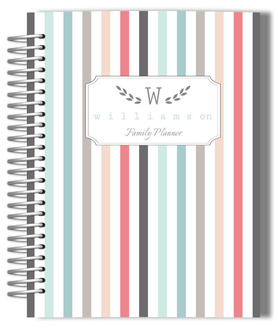Colorful Pinstripe Monthly Family Planner