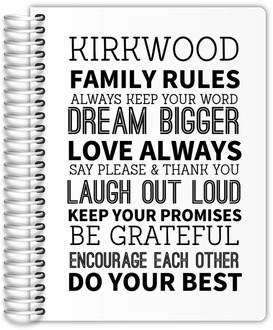 Family Rules Daily Planner