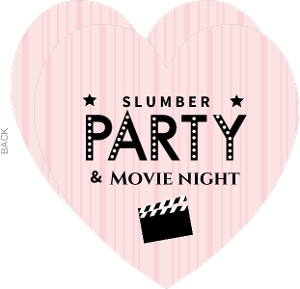 Pink And Black Slumber Movie Night Invite