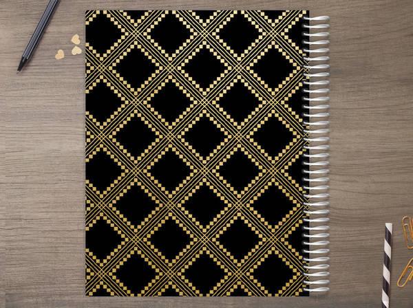 Faux Gold Foil Aztec Pattern Custom Daily Planner