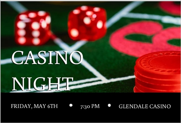 rolling the dice casino party invitation | poker party invitations, Party invitations