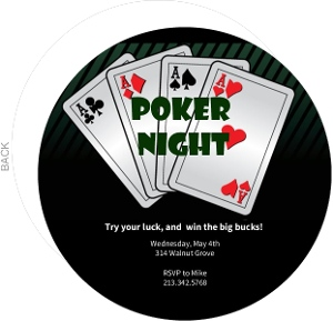 4 Aces Poker Night Invitation