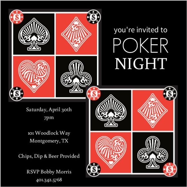 Casino Night Invitation Template Free Pokerstars Mobile Poker App - Party invitation template: casino theme party invitations template free