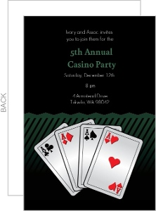 Aces Casino Party Invitation