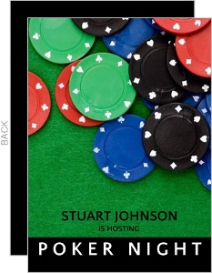 Scattered Poker Chips Poker Night Invitation