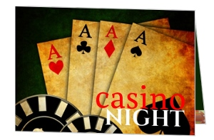 Lucky Cards Poker And Casino Night Invitation