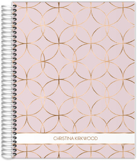 Rose Gold Circle Pattern Monthly Planner