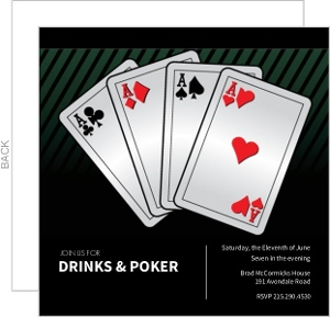 Playing Cards Poker Night Invitation