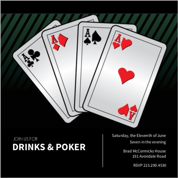 Playing Cards Poker Night Invitation – Playing Card Invitation
