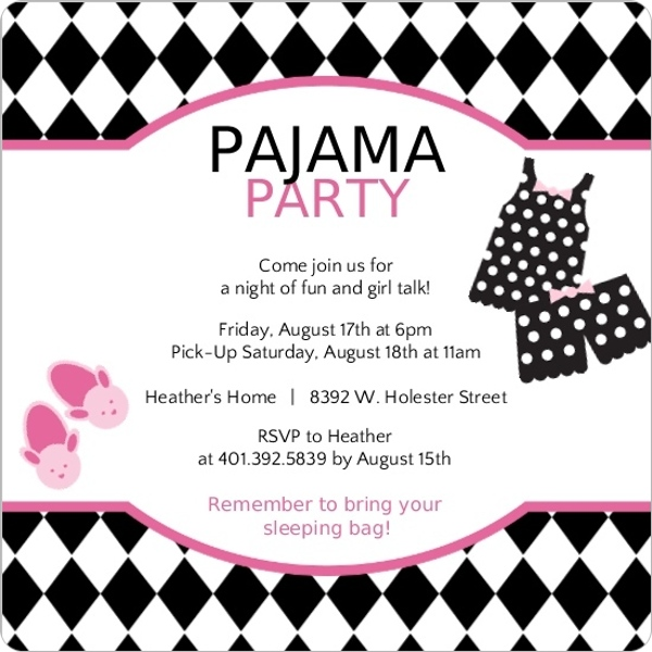 Harlequin Pattern Pink And Black Pajama Slumber Party ...