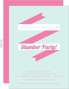 Slumber Party Invitations Pajama Party Invitations