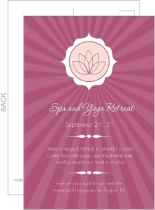 Pink Lotus Flower Yoga Retreat Invitations
