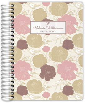Vintage Blossoms Daily Planner