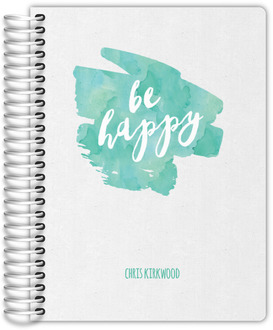 Be Happy Watercolor Daily Planner